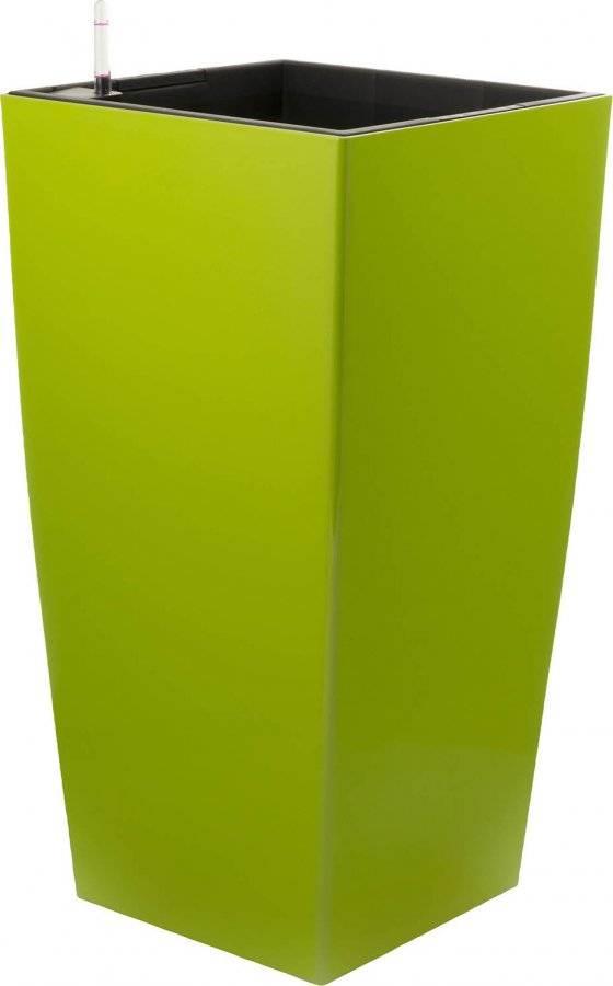 Samozavlažovací květináč Linea zelený 76 cm 6392432 G21