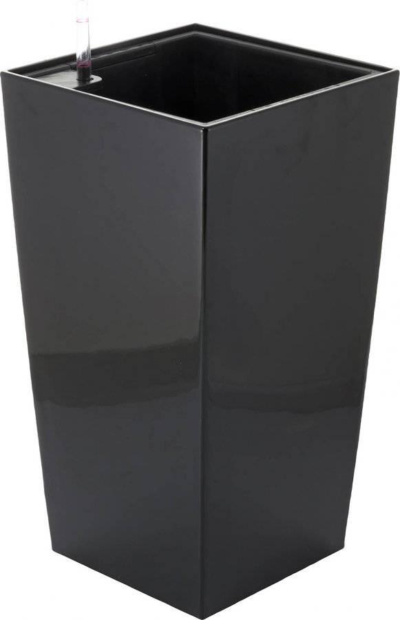 Samozavlažovací květináč Linea small černý 55 cm 639244 G21