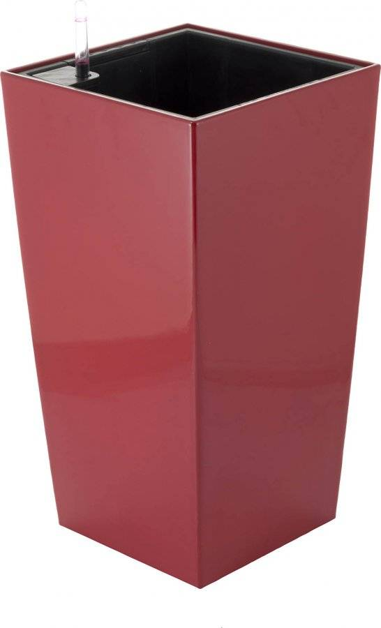 Samozavlažovací květináč Linea small červený 55 cm 6392441 G21
