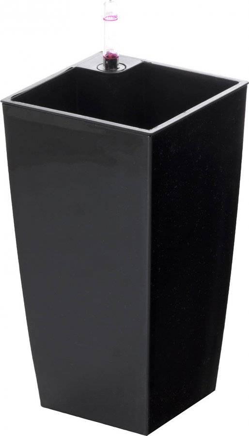 Samozavlažovací květináč Linea mini černý 26 cm 639247 G21
