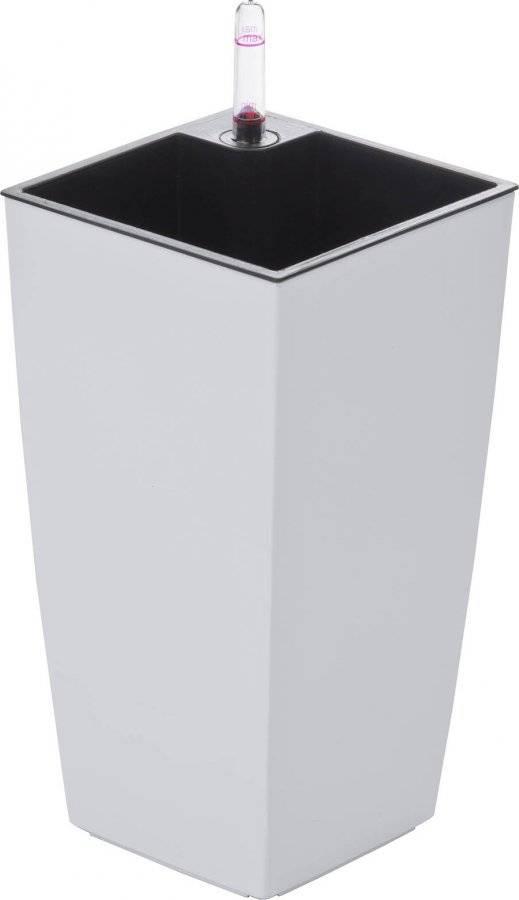 Samozavlažovací květináč Linea mini bílý 26 cm 6392470 G21