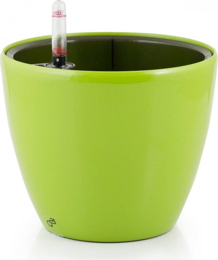 Samozavlažovací květináč Ring zelený 17,5 cm 6392553 G21
