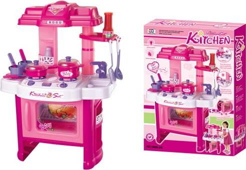 Hračka Dětská kuchyňka DELICACY s příslušenstvím, růžová 690402 G21