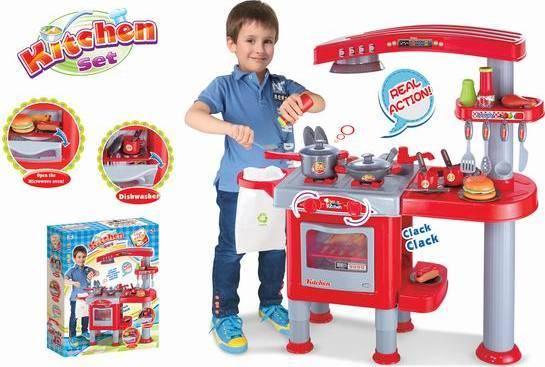 Hračka Dětská kuchyňka velká s příslušenstvím červená 690667 G21