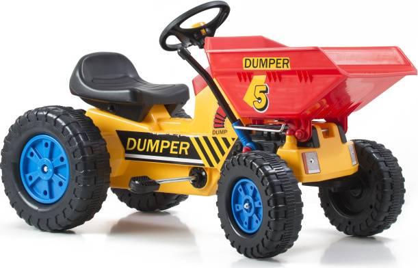 Šlapací traktor Classic s čelním nosičem žluto/modrý 690812 G21