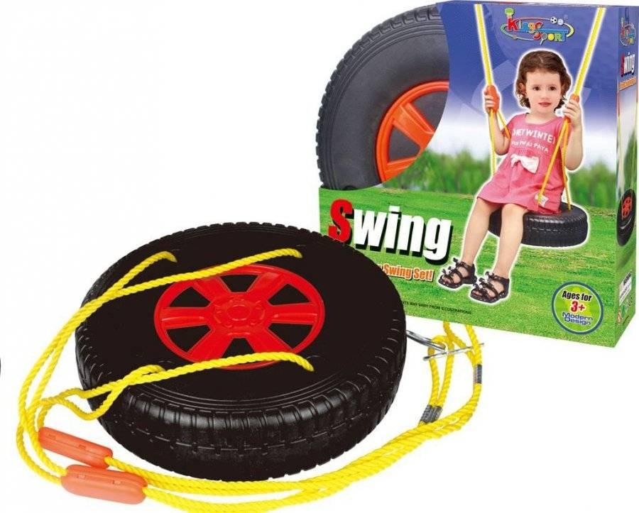Hračka Houpačka pneumatika kulatá černo-červená 690832 G21