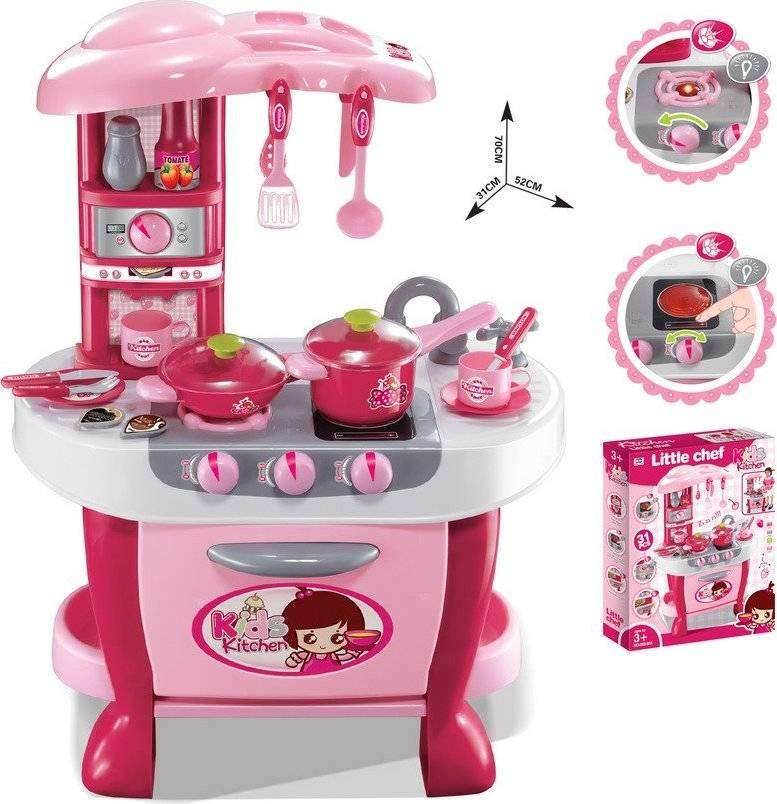 Hračka Dětská kuchyňka Malá kuchařka s příslušenstvím růžová 690955 G21