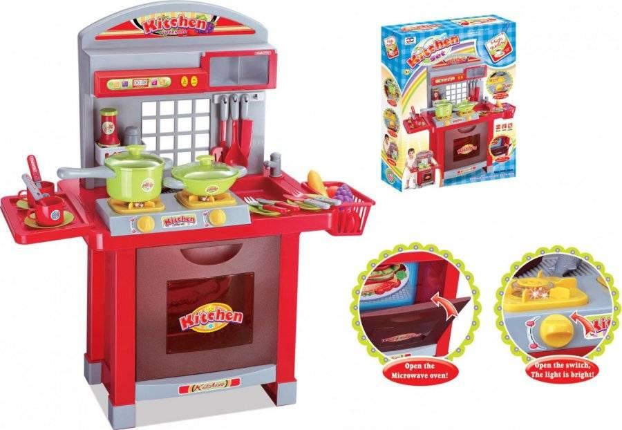 Hračka Dětská kuchyňka Superior s příslušenstvím červená 690959 G21