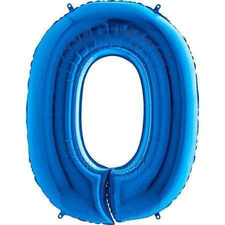 Nafukovací balónek číslo 0 modrý 102cm extra velký - Grabo