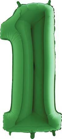 Nafukovací balónek číslo 1 zelený 102cm extra velký - Grabo