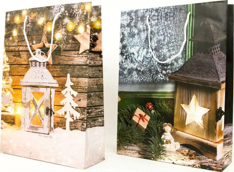 Taška dárková papírová velká, vánoční motivy AUT138-V Art