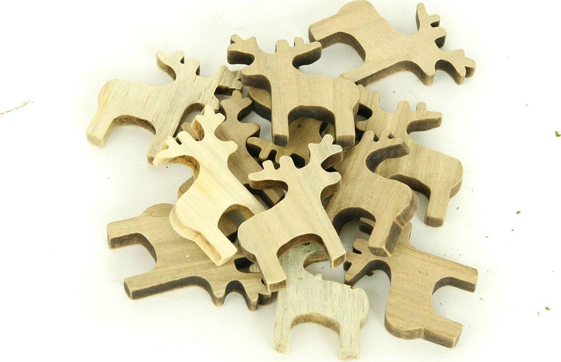 Sob dřevěná dekorace, 12 kusů v sáčku, cena za 1 sáček DV2923 Art