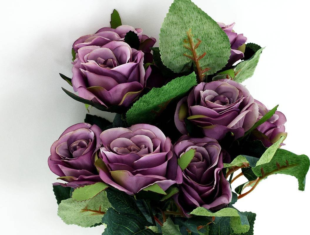 Umělá květina - puget růže, lila KU4148 Art