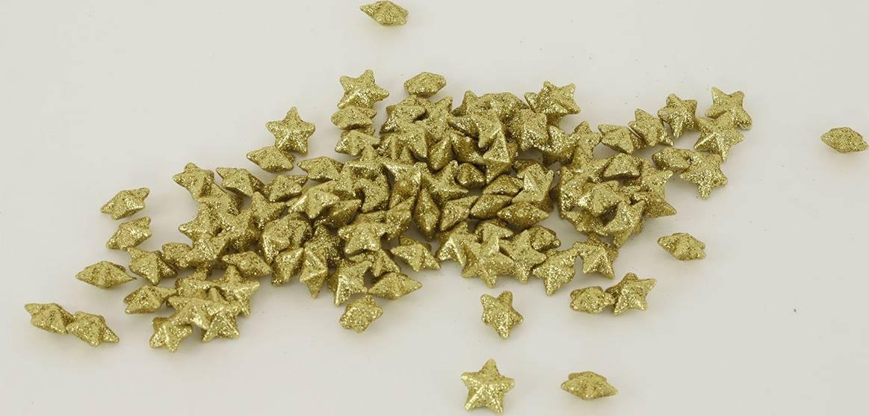 Hvězdička zlatá dekorační, cena za sadu 120 kusů/1 polybag. VCA040 GOLD Art