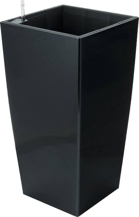 Samozavlažovací květináč Linea černý 76 cm 639243 G21