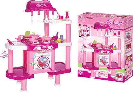 Hračka Dětská kuchyňka LENA s příslušenstvím růžová II. 690679 G21