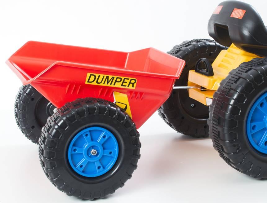 Hračka vlečka k šlapacímu traktoru červená 690817 G21