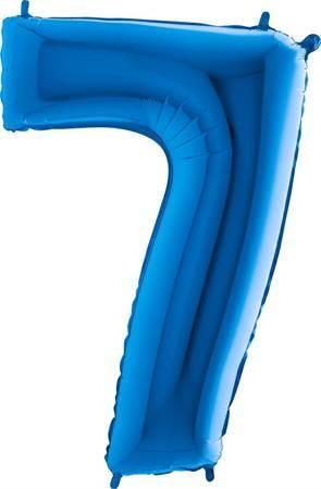 Nafukovací balónek číslo 7 modrý 102cm extra velký - Grabo