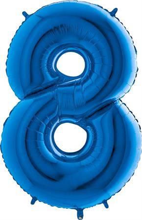 Nafukovací balónek číslo 8 modrý 102cm extra velký - Grabo