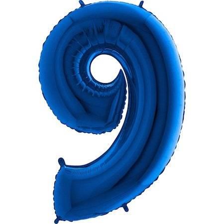 Nafukovací balónek číslo 9 modrý 102cm extra velký - Grabo