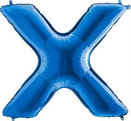 Nafukovací balónek písmeno X modré 102 cm - Grabo