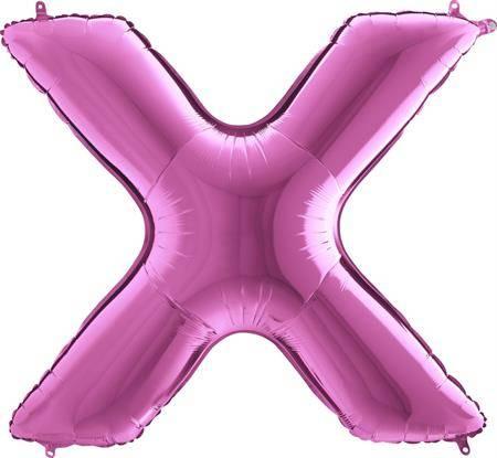 Nafukovací balónek písmeno X růžové 102 cm - Grabo