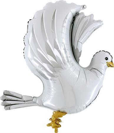 Nafukovací balónek svatební 3D holubice 94 cm - Grabo