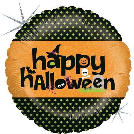 Nafukovací balónek šťastný halloween 46 cm - Grabo