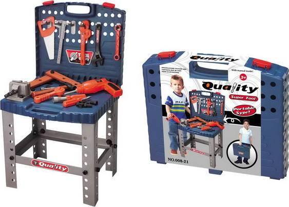 Hračka Dětské nářadí kufřík a pracovní stůl 690400 G21