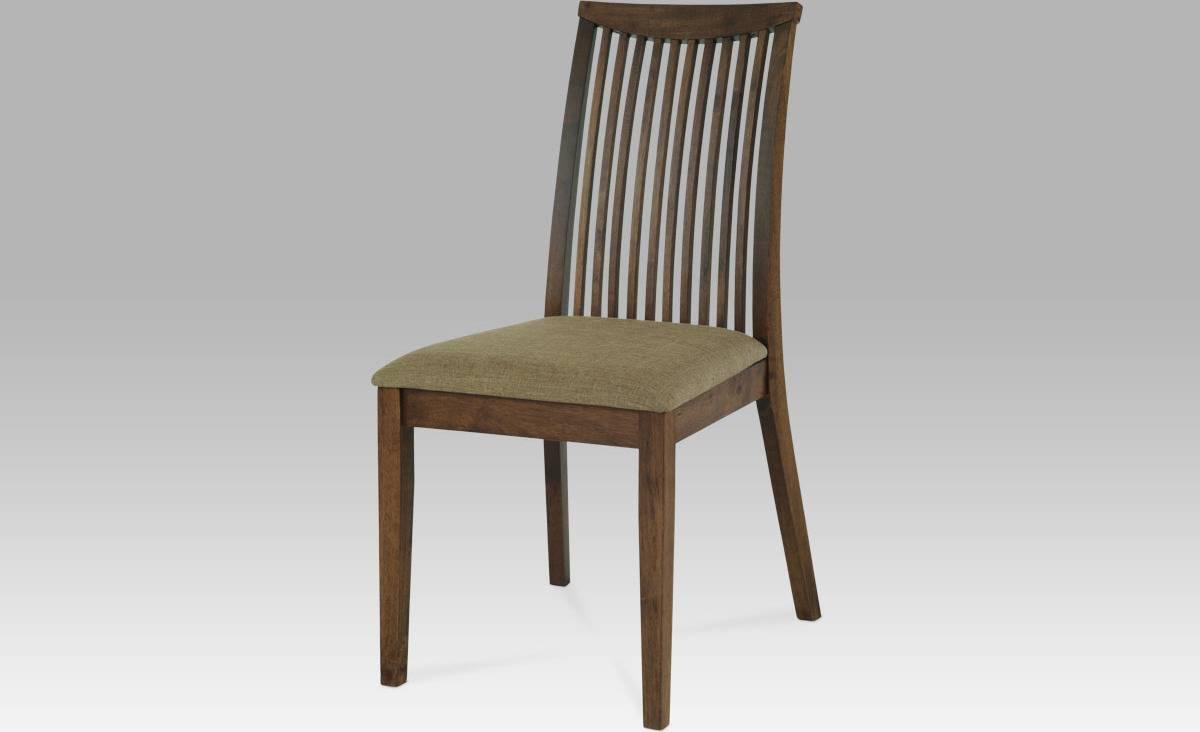 Jídelní židle, barva ořech, potah pískový ARC-7177 WAL Art
