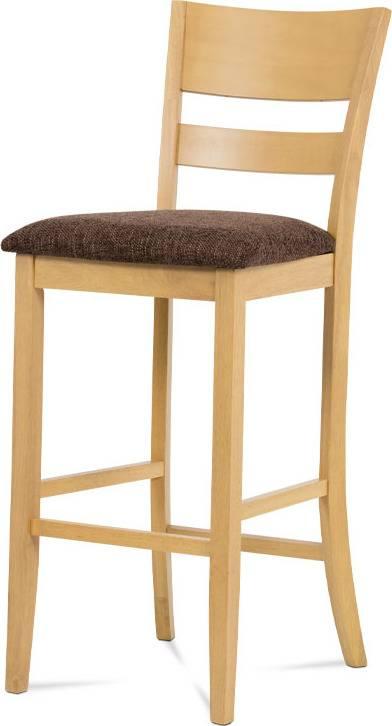 Barová židle BEZ SEDÁKU, bělený dub AUB-5527 OAK1 Art