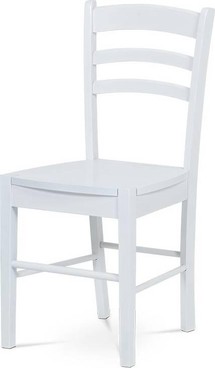 Jídelní židle celodřevěná, bílá AUC-004 WT Art