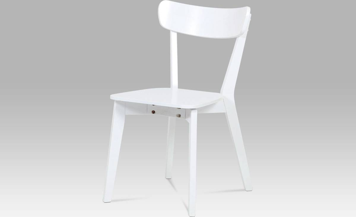 Jídelní židle celodřevěná bílá AUC-008 WT Art