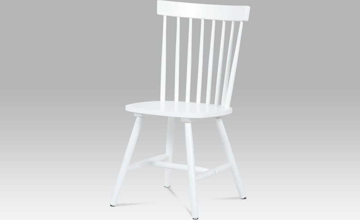 Jídelní židle celodřevěná, bílá AUC-608 WT Art