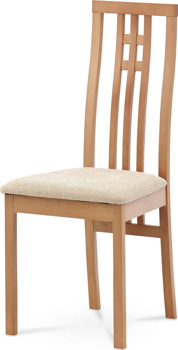 Jídelní židle masiv buk, barva buk, potah krémový BC-2482 BUK3 Art