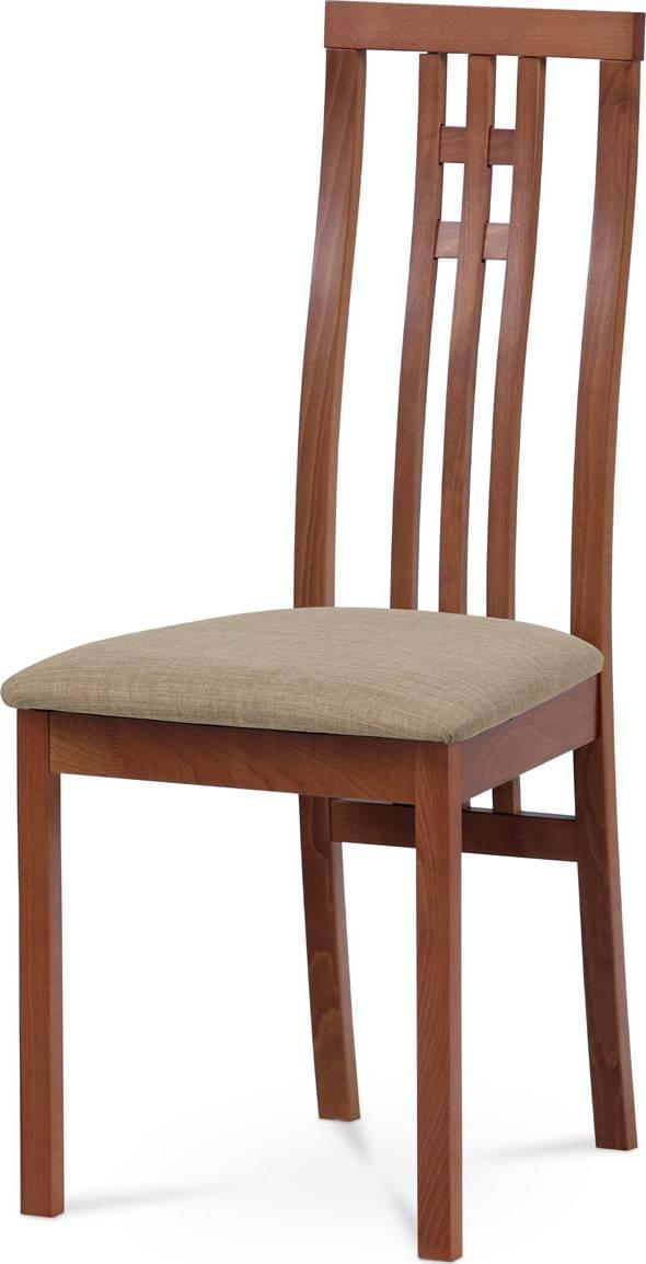 Jídelní židle masiv buk, barva třešeň, potah krémový BC-2482 TR3 Art