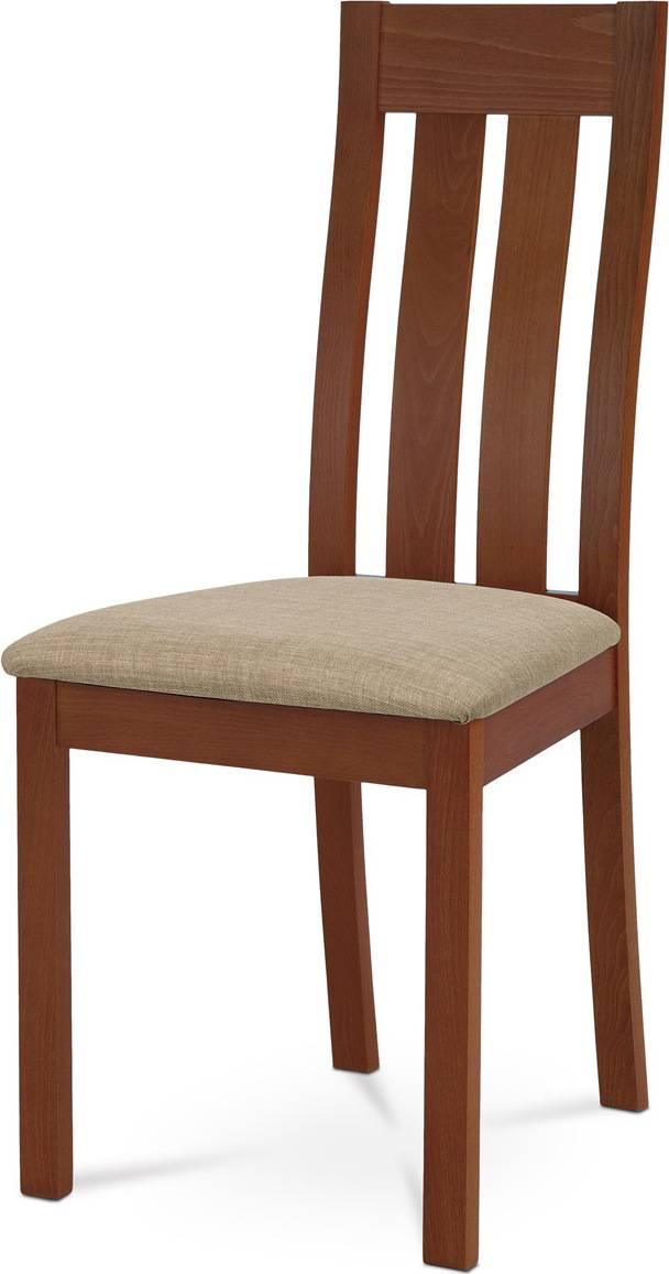 Jídelní židle masiv buk, barva třešeň, potah béžový BC-2602 TR3 Art