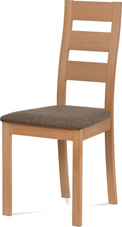 Jídelní židle masiv buk, barva buk, potah hnědý melír BC-2603 BUK3 Art