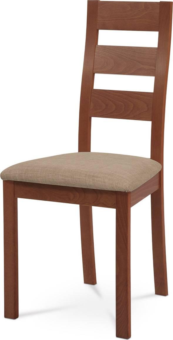 Jídelní židle masiv buk, barva třešeň, potah béžový BC-2603 TR3 Art