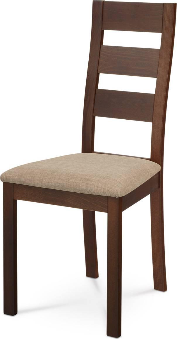 Jídelní židle masiv buk, barva ořech, potah světlý BC-2603 WAL Art
