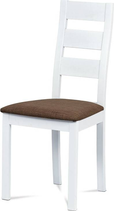 Jídelní židle masiv buk, barva bílá, potah světlý BC-2603 WT Art