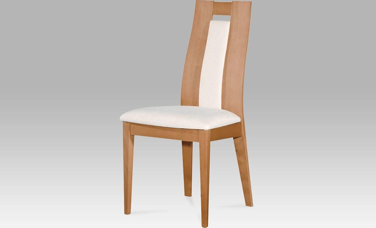 Jídelní židle masiv buk, barva buk, potah krémový BC-33905 BUK3 Art