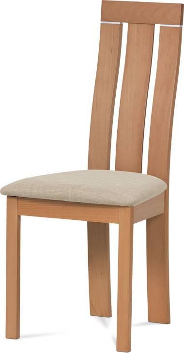 Jídelní židle masiv buk, barva buk, potah krémový BC-3931 BUK3 Art