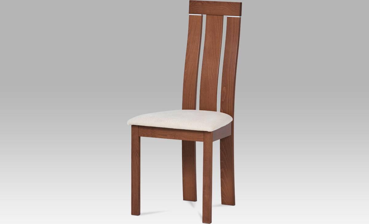 Jídellní židle masiv buk, barva třešeň, potah krémový BC-3931 TR3 Art