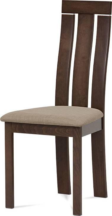 Jídelní židle masiv buk, barva ořech, potah krémový BC-3931 WAL Art