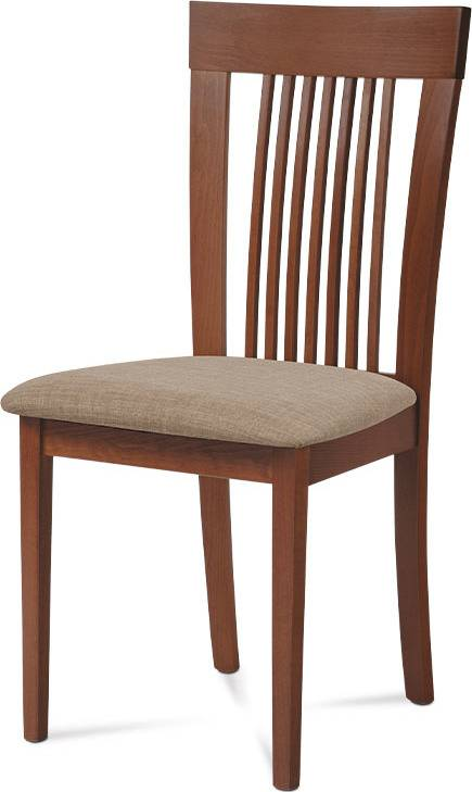 Jídelní židle, barva třešeň, potah krémový BC-3940 TR3 Art