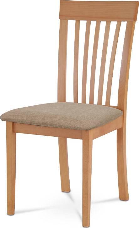 Jídelní židle, buk, potah béžový BC-3950 BUK3 Art