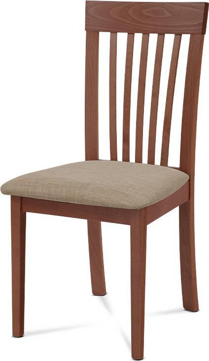 Jídelní židle, třešeň, potah krémový BC-3950 TR3 Art