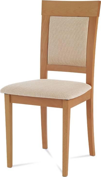 Jídelní židle, buk, potah béžový BC-3960 BUK3 Art