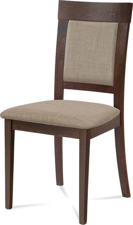 Jídelní židle, ořech, potah krémový BC-3960 WAL Art